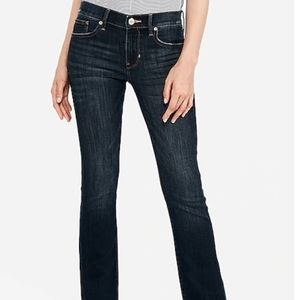 NWT Express Mid Rise Barely Boot Jeans size 4 long